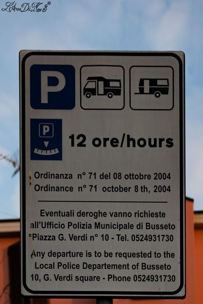 Busseto parcheggio camper