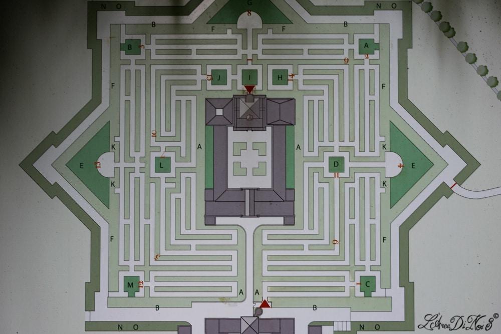 Labirinto della Masone mappa
