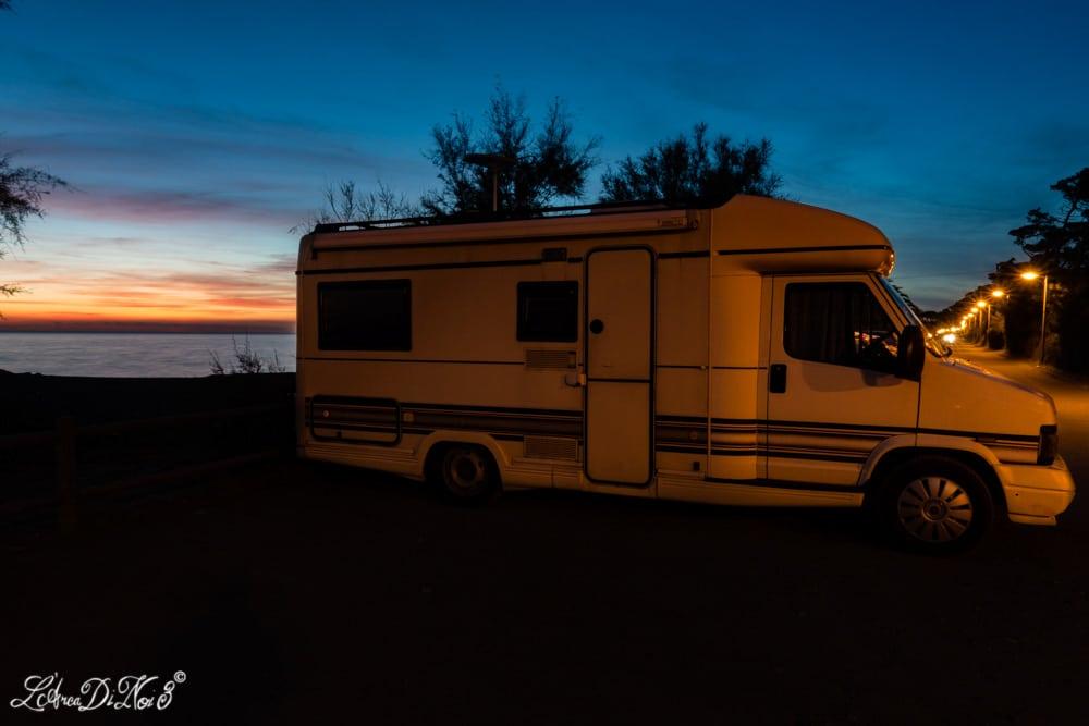 Le Gorette camper tramonto