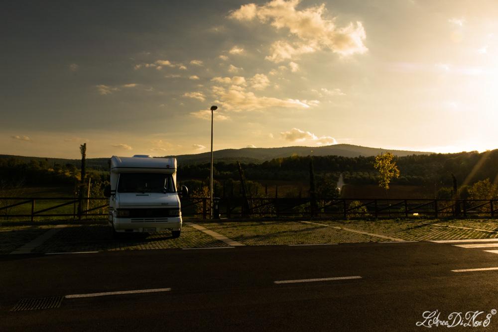Monteriggioni area sosta camper