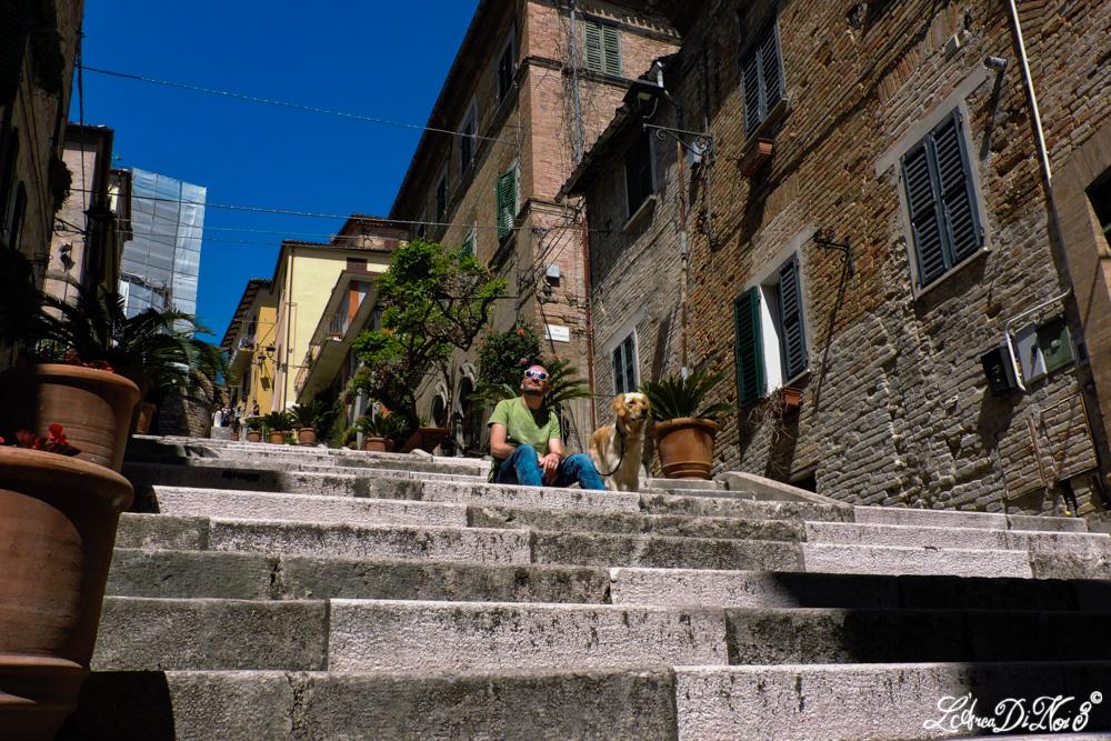 Corinaldo gradini della Piaggia