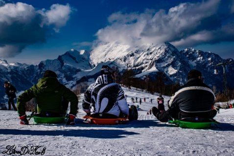 In camper sulla neve a fare BOB ai PIANI DI BOBBIO