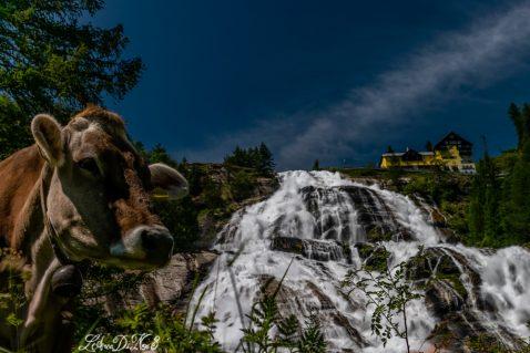 In camper alla cascata del Toce in Val Formazza