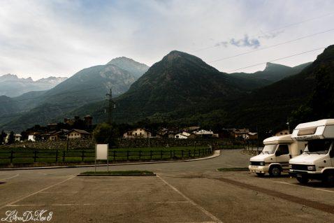 Area sosta camper gratuita Fenis Valle D'Aosta