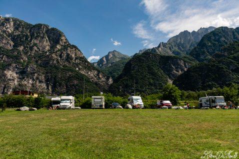 Lago di Novate Mezzola col camper: tra pace e turbamenti