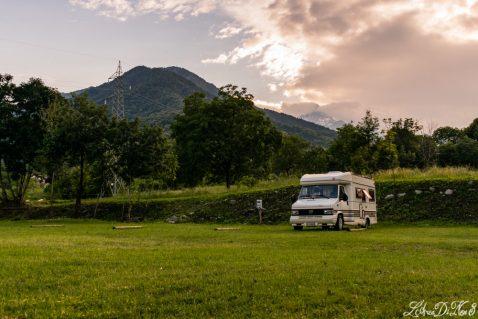 Viaggio in camper ai piedi del Monviso