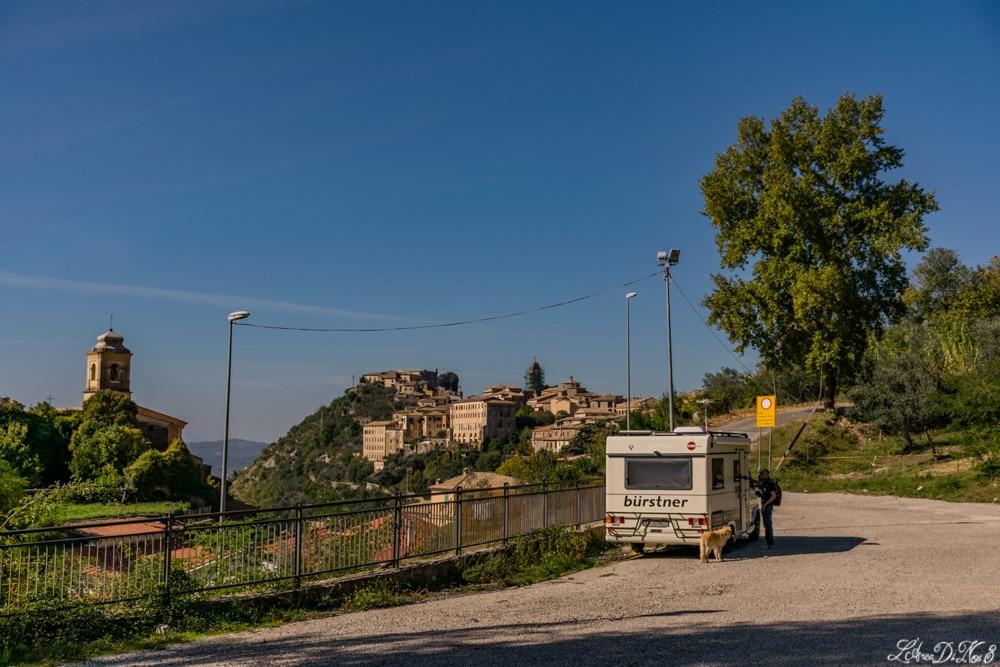 Arpino parcheggio camper per visitare il centro storico