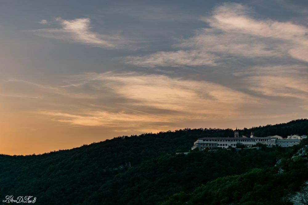 Certosa di Trisulti al tramonto