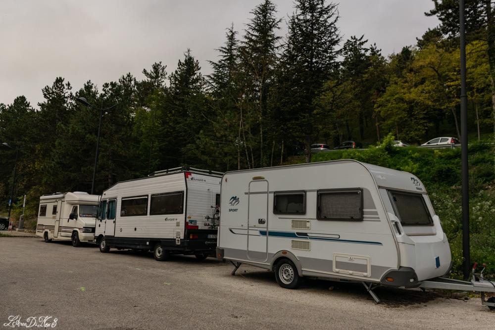 L'Aquila parcheggio camper
