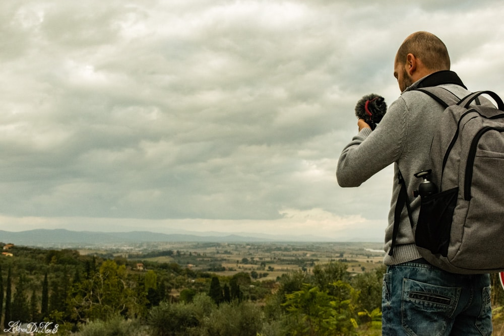 La campagna toscana vista da Lucignano