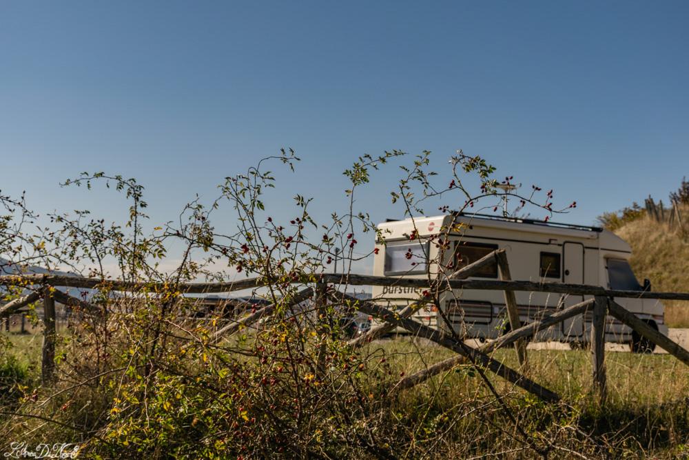 Lago di Campotosto parcheggio camper
