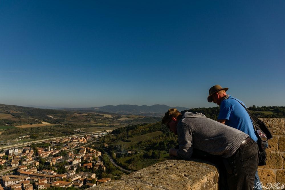 Orvieto dall'alto delle mura della fortezza Albornoz