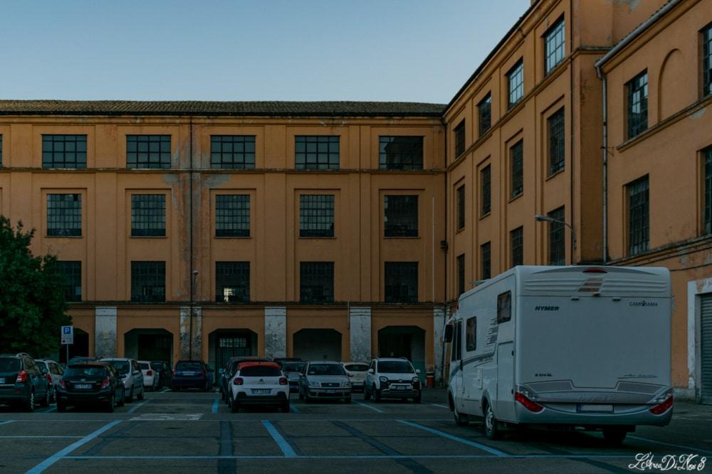 Parcheggio camper alla caserma Piave ad Orvieto