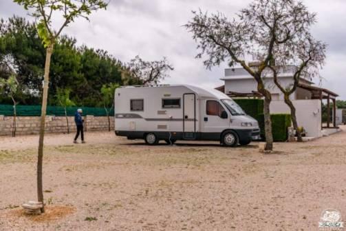 Salina dei Monaci area sosta camper