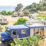 Area sosta camper a Masua per visitare Porto Flavia