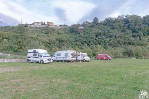 Bienno area sosta camper