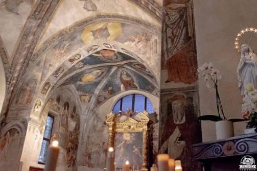 Bienno affreschi chiesa S. Maria Annunciata