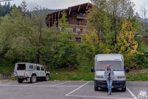 Valcanale parcheggio camper